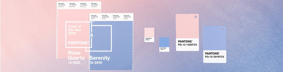 Pantone Color Of the Year 2016 - Rose Quartz e Serenity