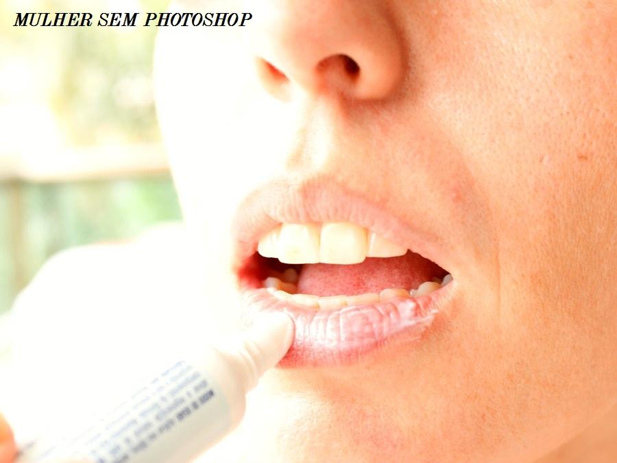 Textura em creme do Bepantol Regenerador de lábios