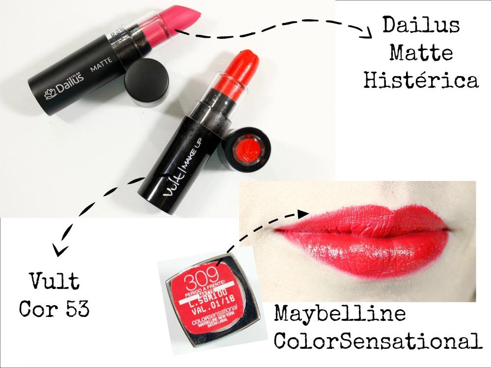 Maquiagem colorida - batom