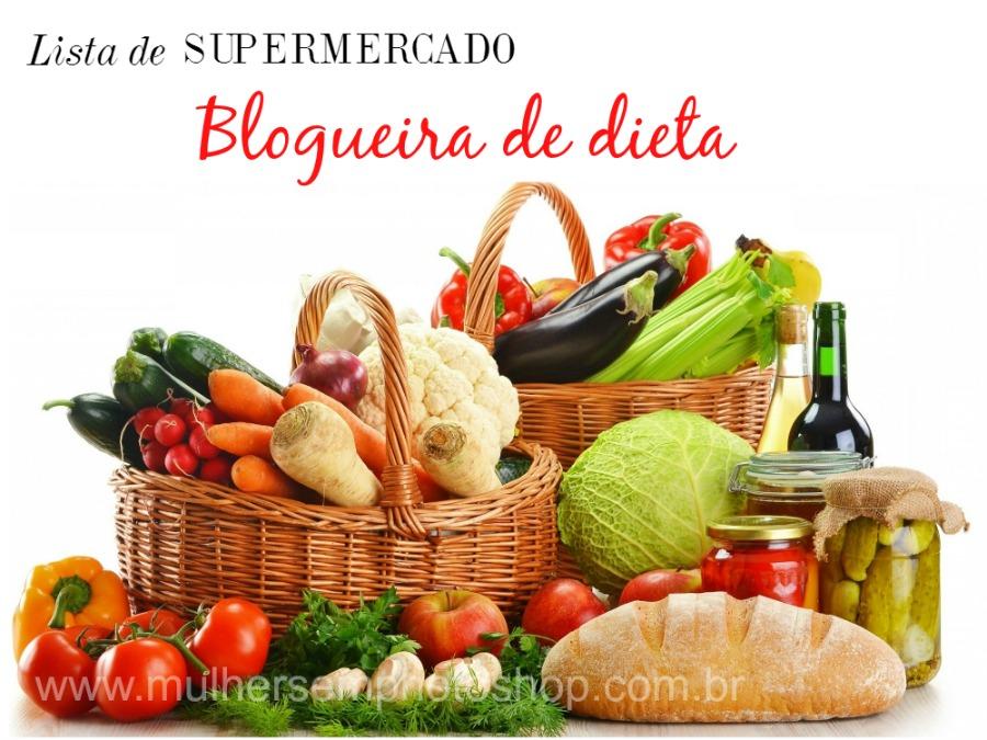 Lista de supermercado para quem está de dieta
