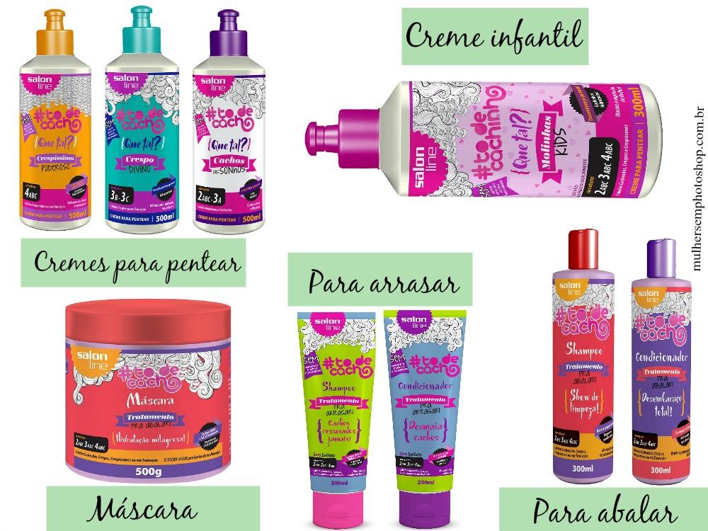 Produtos para cabelos cacheados Salon Line