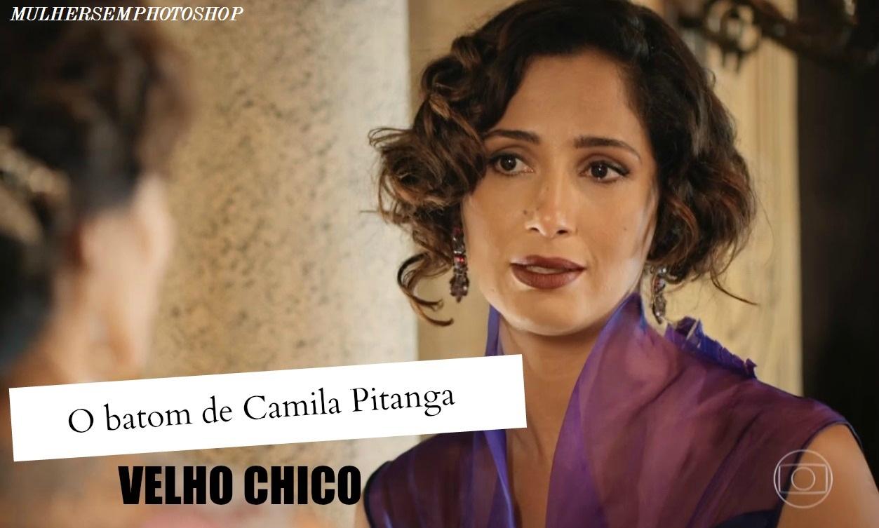 Batom marrom de Tereza (Camila Pitanga) em Velho Chico