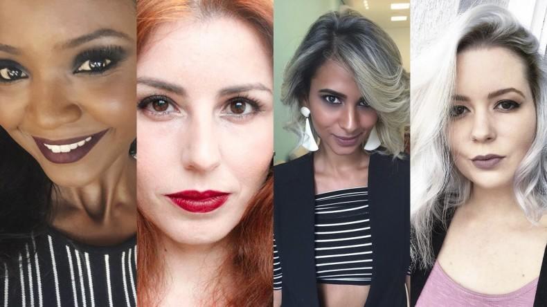 1 batom 4 mulheres