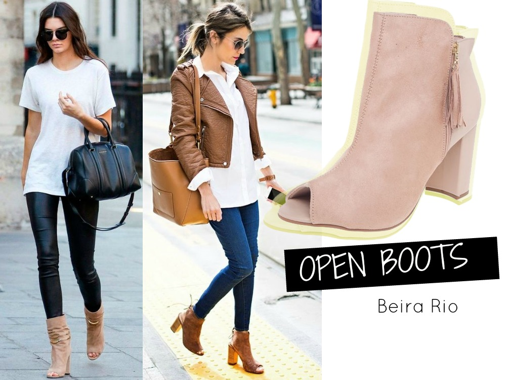 Looks com botas - Open Boots - inverno 2016