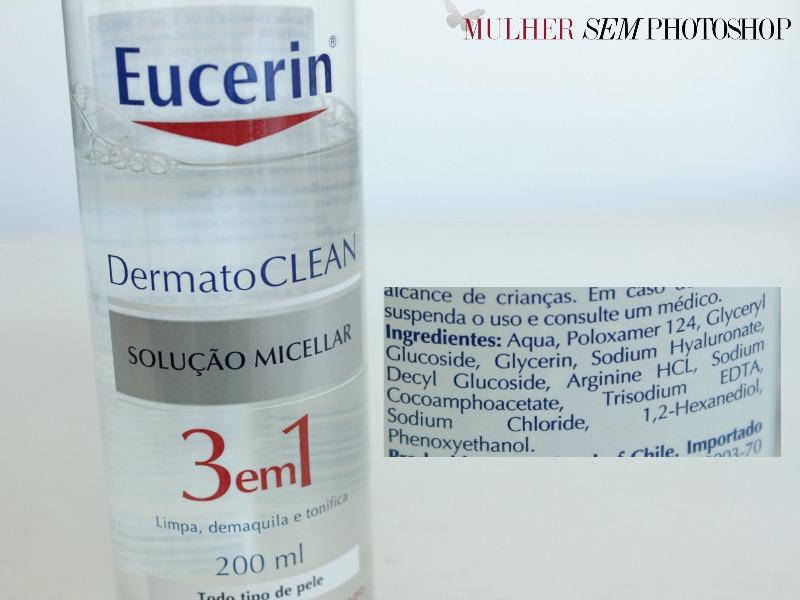 Dermatoclean - Eucerin - resenha - fórmula
