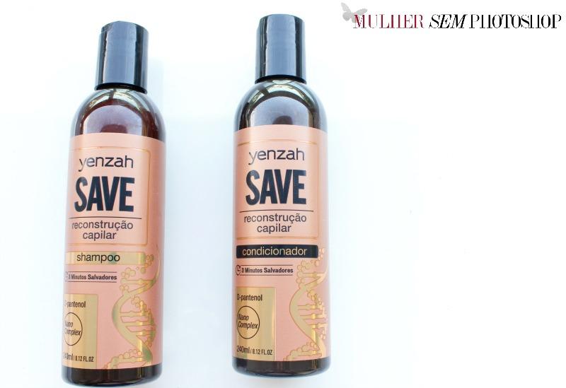 SAVE - Yenzah - shampoo e condicionador