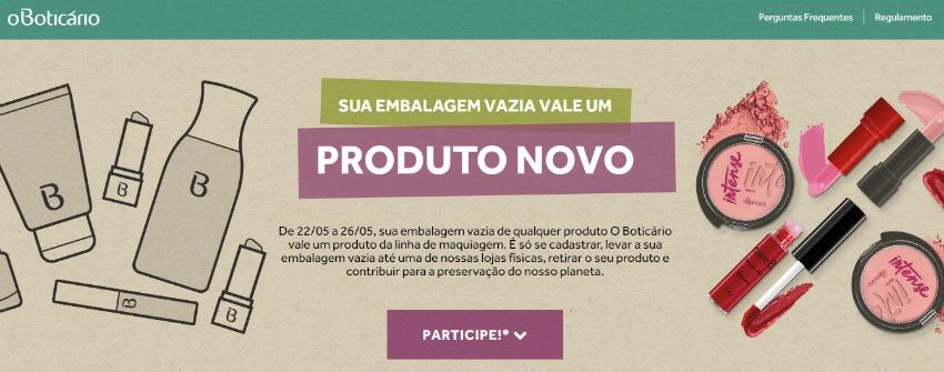 Boti Recicla - troque embalagem de produtos boticário por maquiagem nova