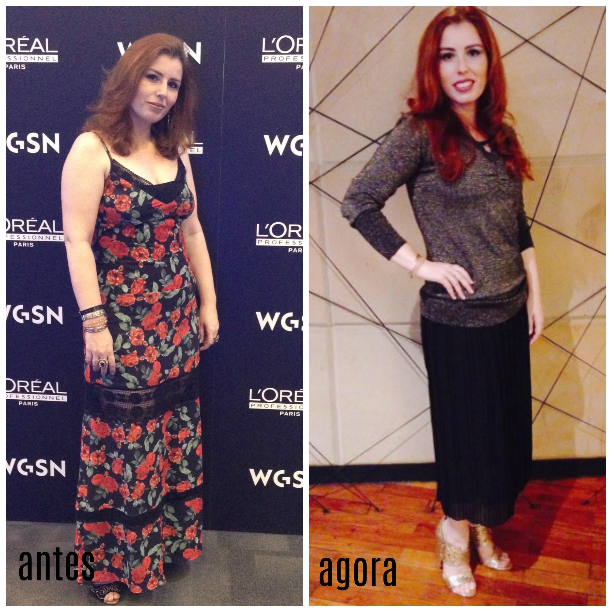 Emagreci 8kgs - antes e depois