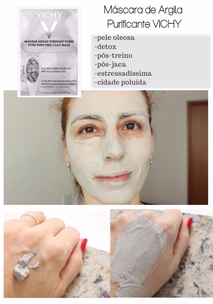 máscara de argila purificante Vichy - resenha