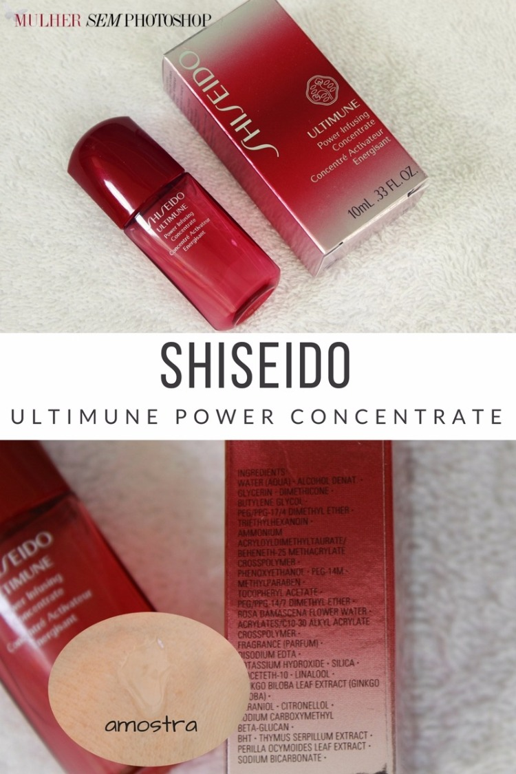 Shiseido Ultimune Power Concentrate resenha