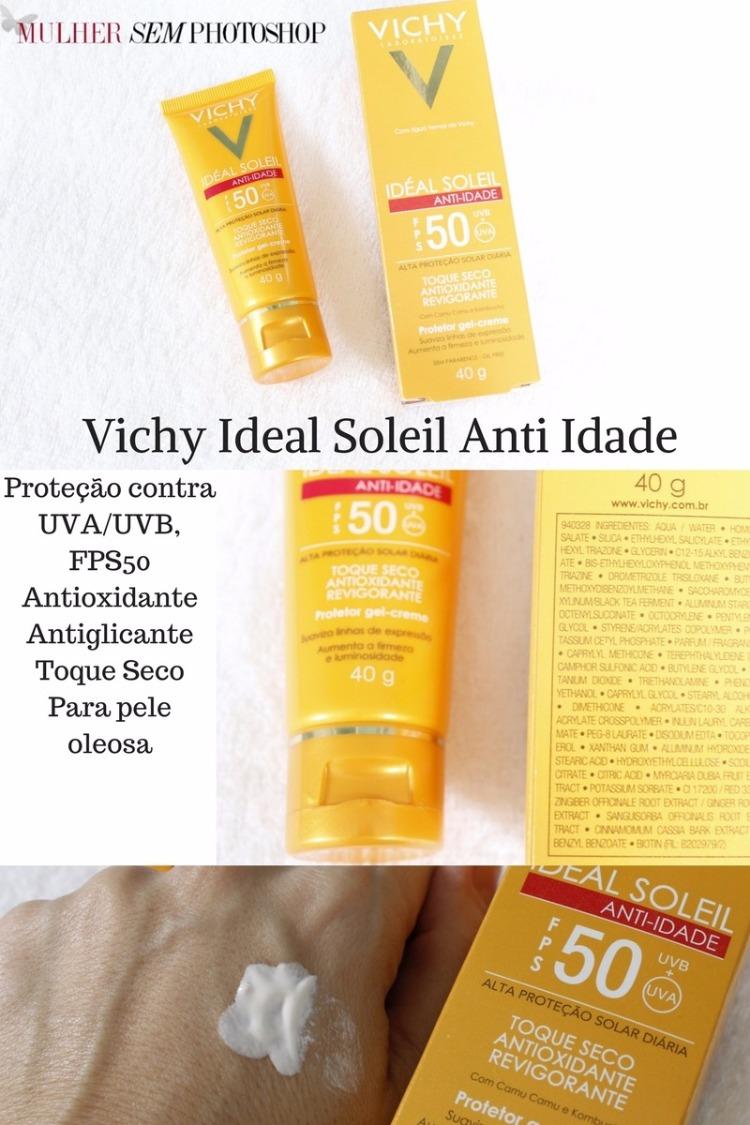 Vichy Ideal Soleil Anti Idade FPS50 resenha