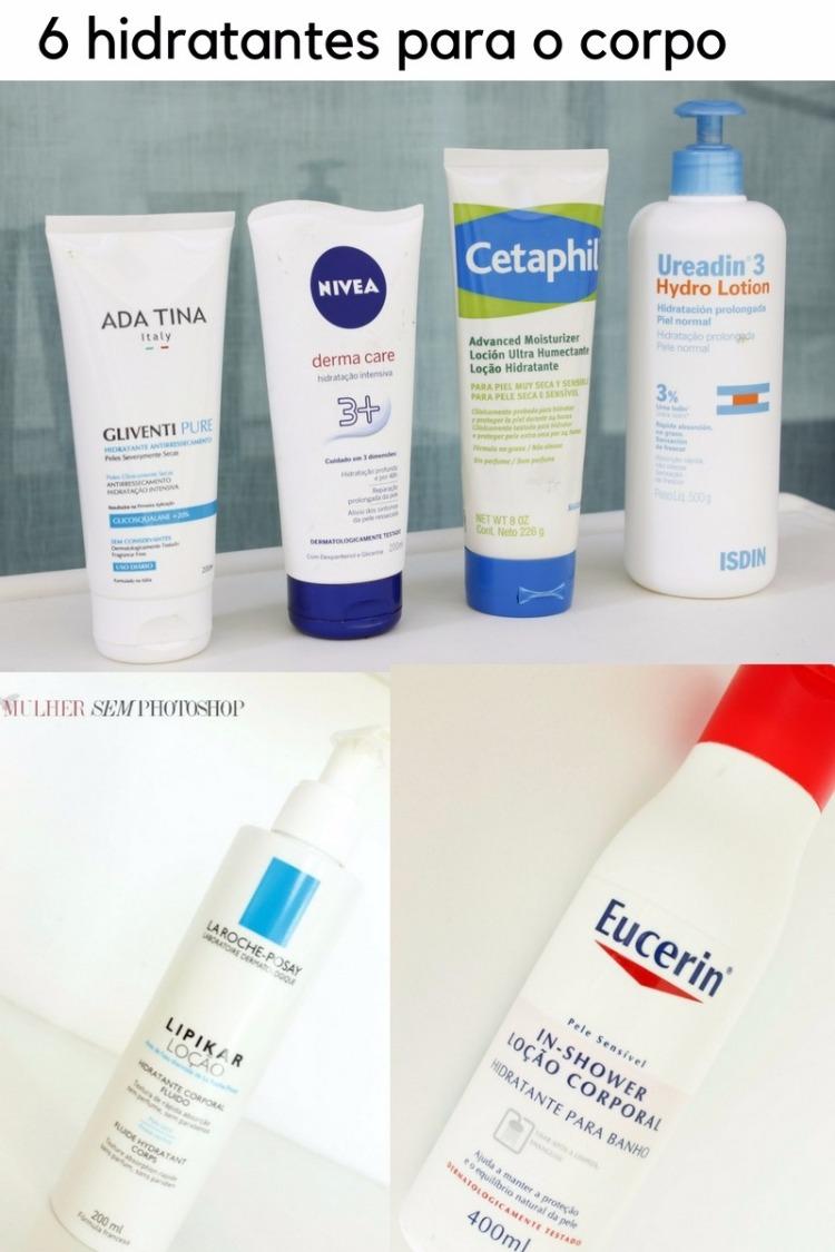 6 hidratantes para o corpo - pele seca ou ressecada